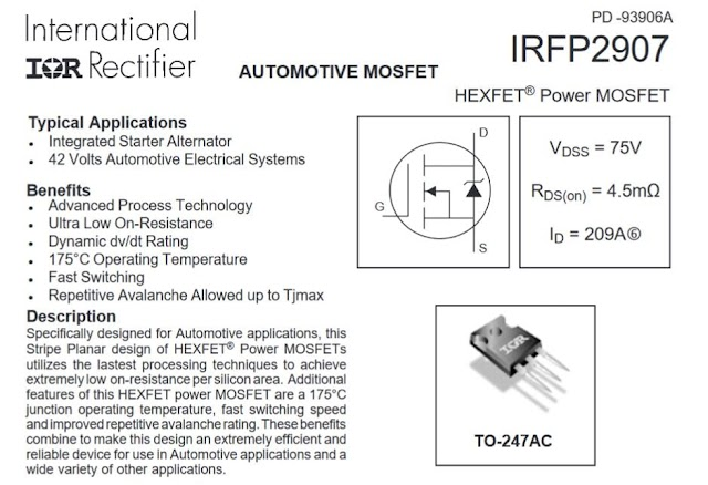 How To Calculate MOSFET Rating On Inverter