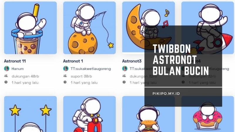 Twibbon Astronot Couple Bulan yang Lagi Viral di TikTok, Ini Cara Mendapatkanya