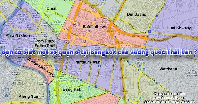 Bạn có biết một số quận ở tại Bangkok của vương quốc Thái Lan ?