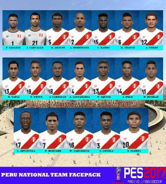 Peru Facepack 2018 PES 2017