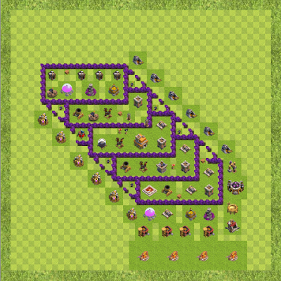 War Base Town Hall Level 7 By Dhivagar (Best TH 7 Layout)