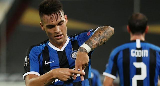 Lautaro Martínez marcó dos goles para la clasificación de Inter a la final de la Liga de Europa