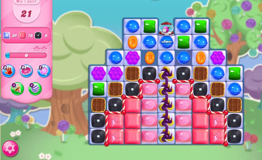 Candy Crush Saga level 6677