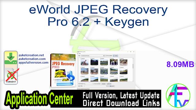 eWorld JPEG Recovery Pro 6.2 + Keygen