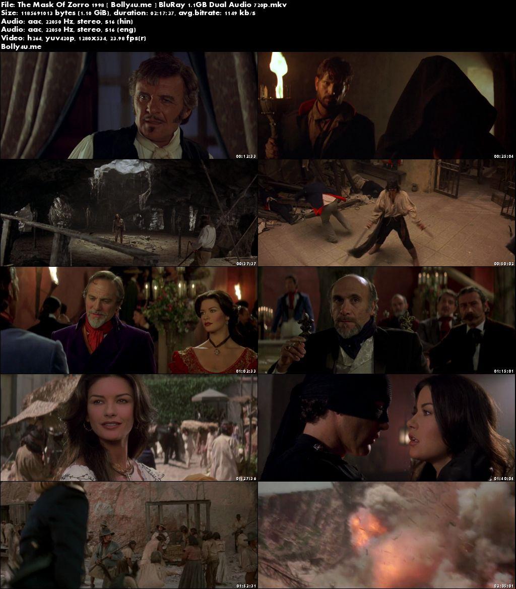 The Mask Of Zorro 1998 BluRay Hindi Dual Audio 720p Download
