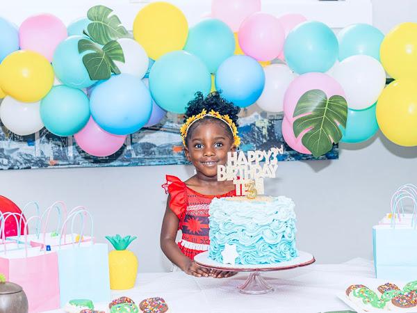 Teni's Moana Themed 3rd Birthday Party