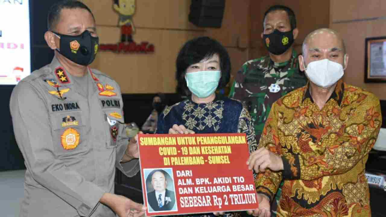 Luar Biasa..!! Bantu Penanganan Covid, Keluarga Alm Akidi Tio Sumbang 2 T ke Pemerintah