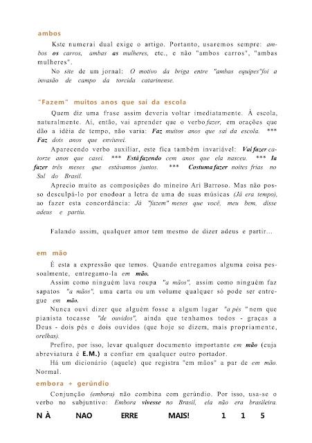 Não erre mais língua portuguesa