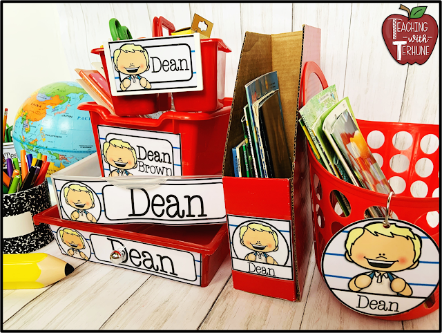 Classroom Labels for Storage Bins