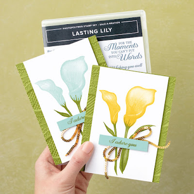 Stampin' Up! 4 Lasting Lily Projects for Sale-a-Bration 2019 ~ Distinkive Stamps