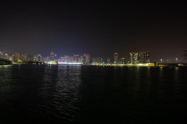 Tramonto dal Mall La galleria Abu Dhabi
