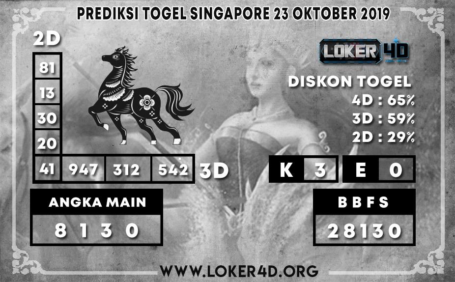 PREDIKSI TOGEL SINGAPORE LOKER4D 23 OKTOBER 2019