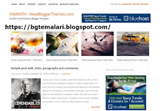 Yaminth Blogger Teması