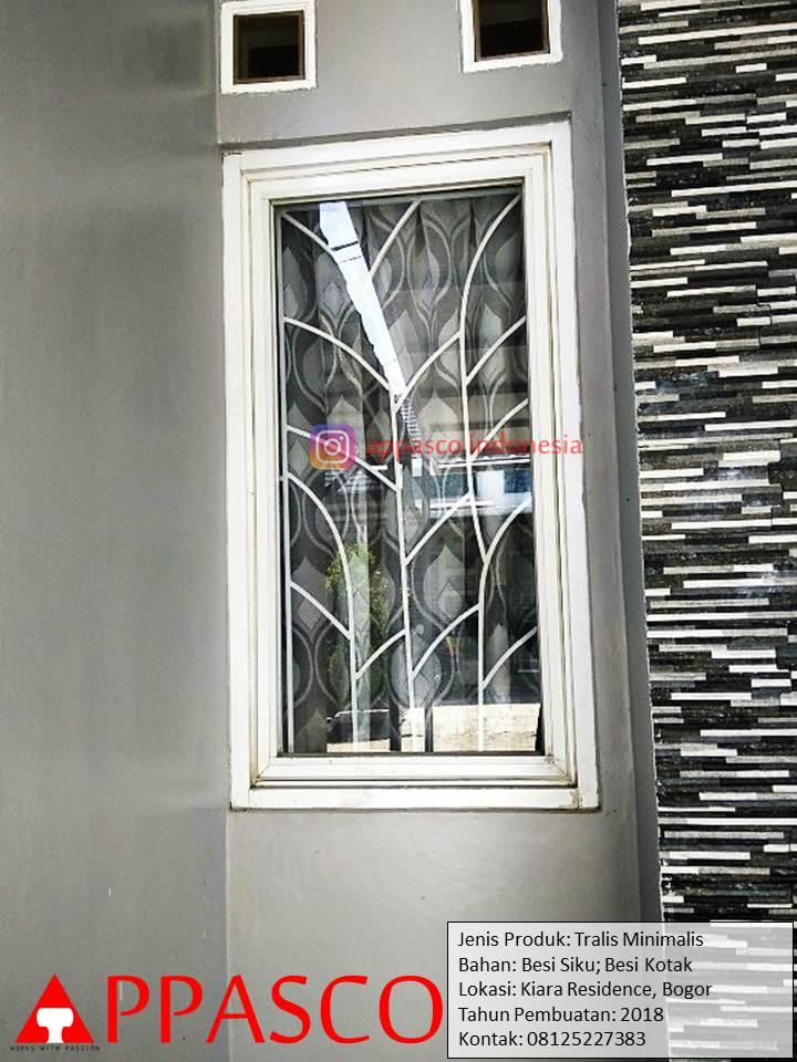 Teralis Minimalis Untuk Jendela Kamar di Kiara Residence Bogor