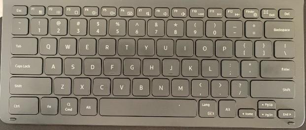 Layout Keyboard bawaan Samsung Galaxy Tab S7 FE 5G