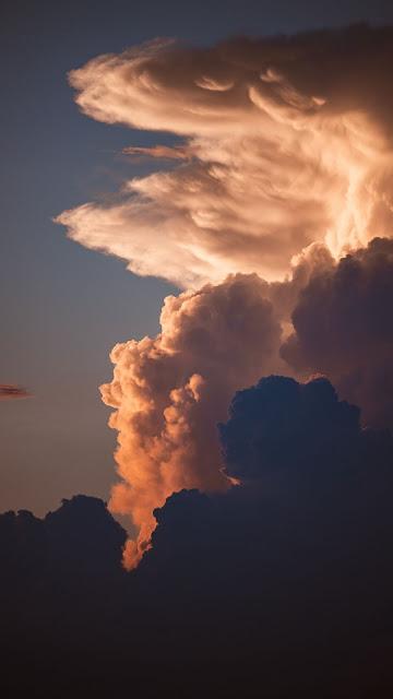 HD Wallpaper Sunset, Clouds, Sky, Dusk