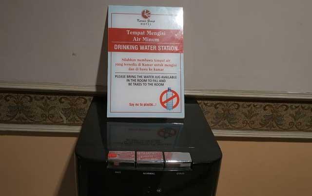 upaya mencegah sampah plastik di hotel kurnia persana bandar lampung