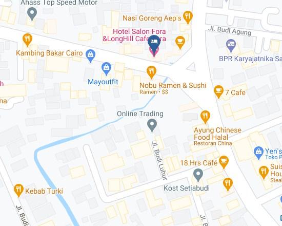 Map Letak Hotel Salon Fora Bandung