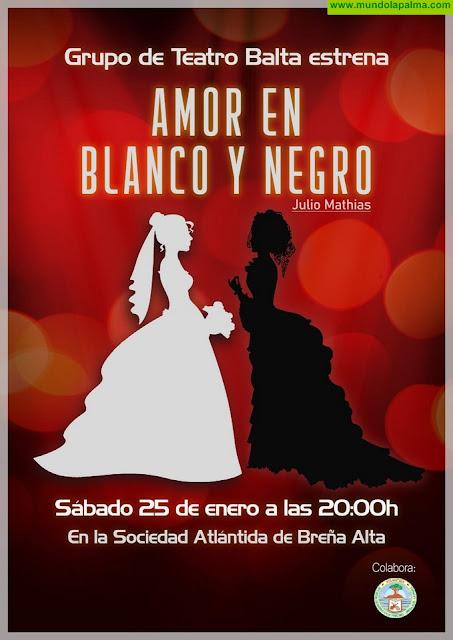 El Grupo de Teatro Balta trae este sábado a La Villa 'Amor en Blanco y Negro' de Julio Mathias