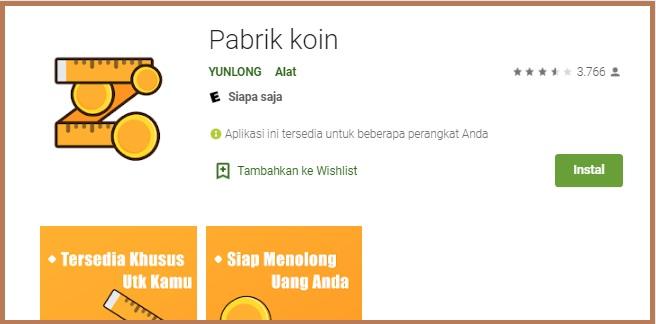 Pabrik Koin Apk Pinjaman Online