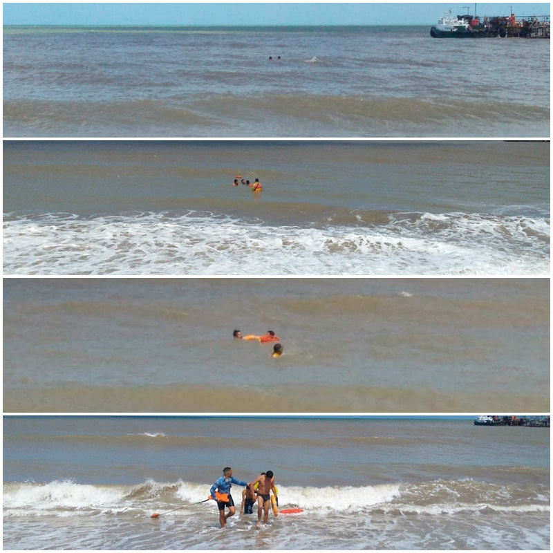 Salvavidas de Riohacha rescatan a dos jóvenes que se estaban ahogando