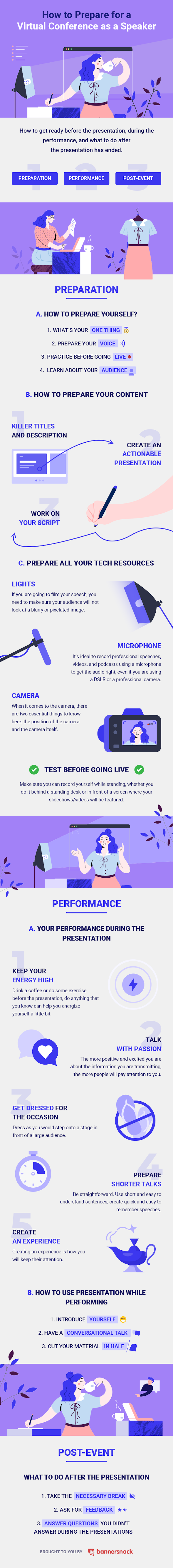 How to Host a Virtual Conference Successfully - Infographic
