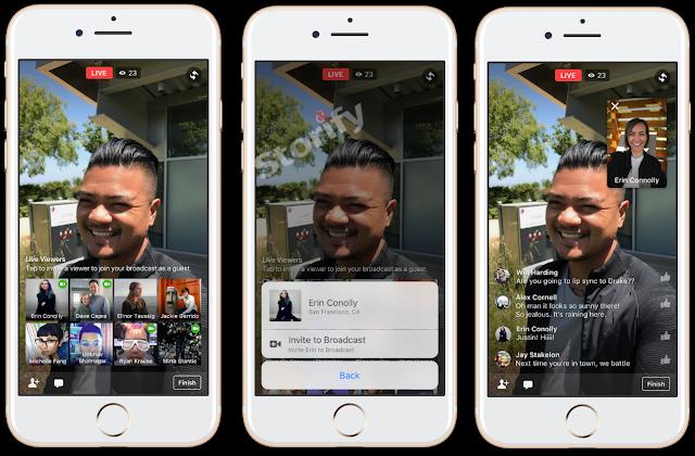 facebook canlı yayına arkadaş ekleme