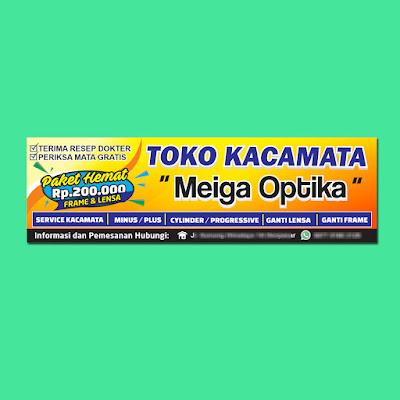 Banner Toko Kacamata