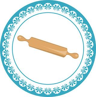 Etiquetas, o Toppers para Imprimir Gratis de Horneando en Azul.