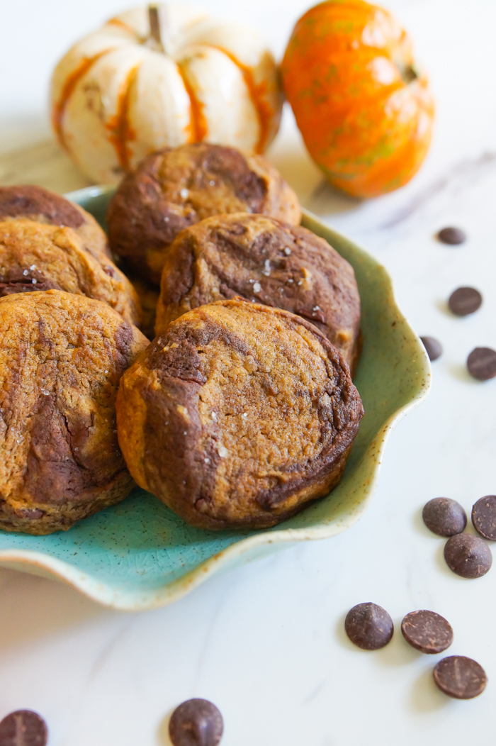 Chocolate Pumpkin Swirl Cookies from The Cookie Book