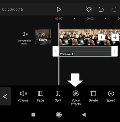 menambahkan efek suara di aplikasi capcut