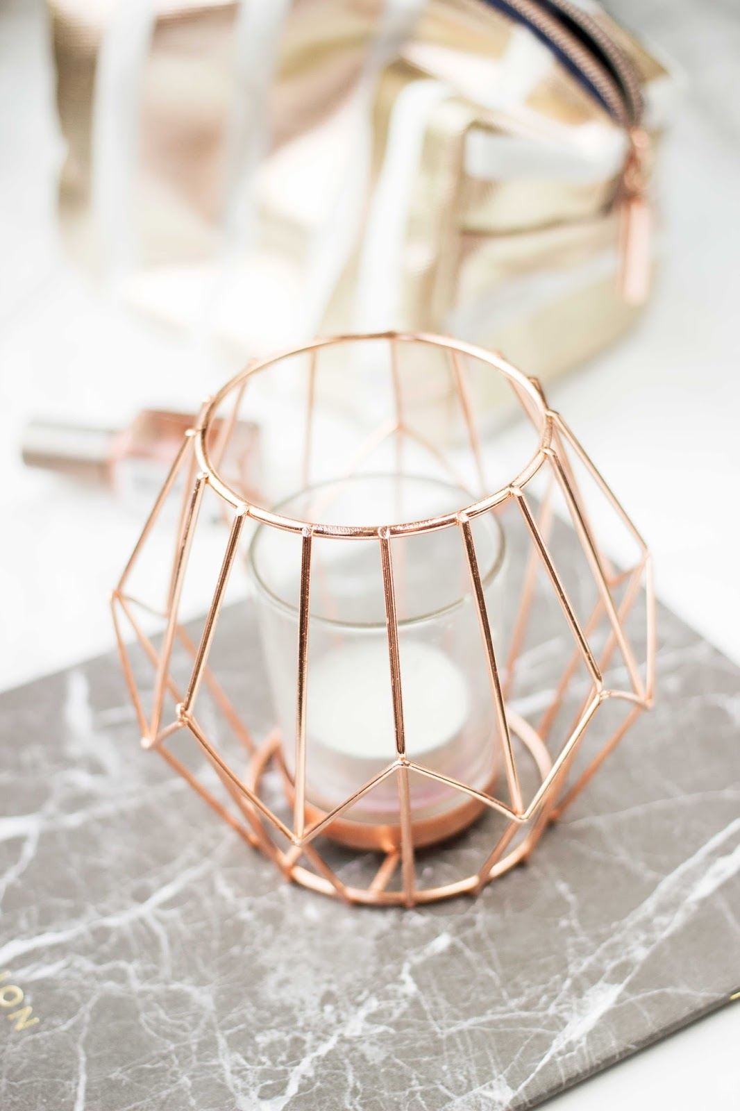 Candle Holder New Look, Copper Candle Holder, Notes Marble Effect Pad, Katie Writes,