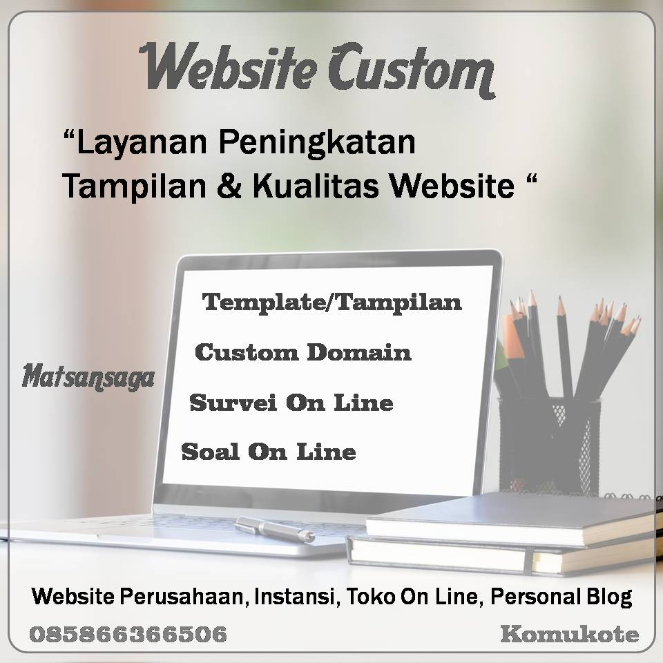 Jasa Custom Domain Template Website