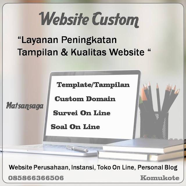 Jasa Custom Domain Template Website