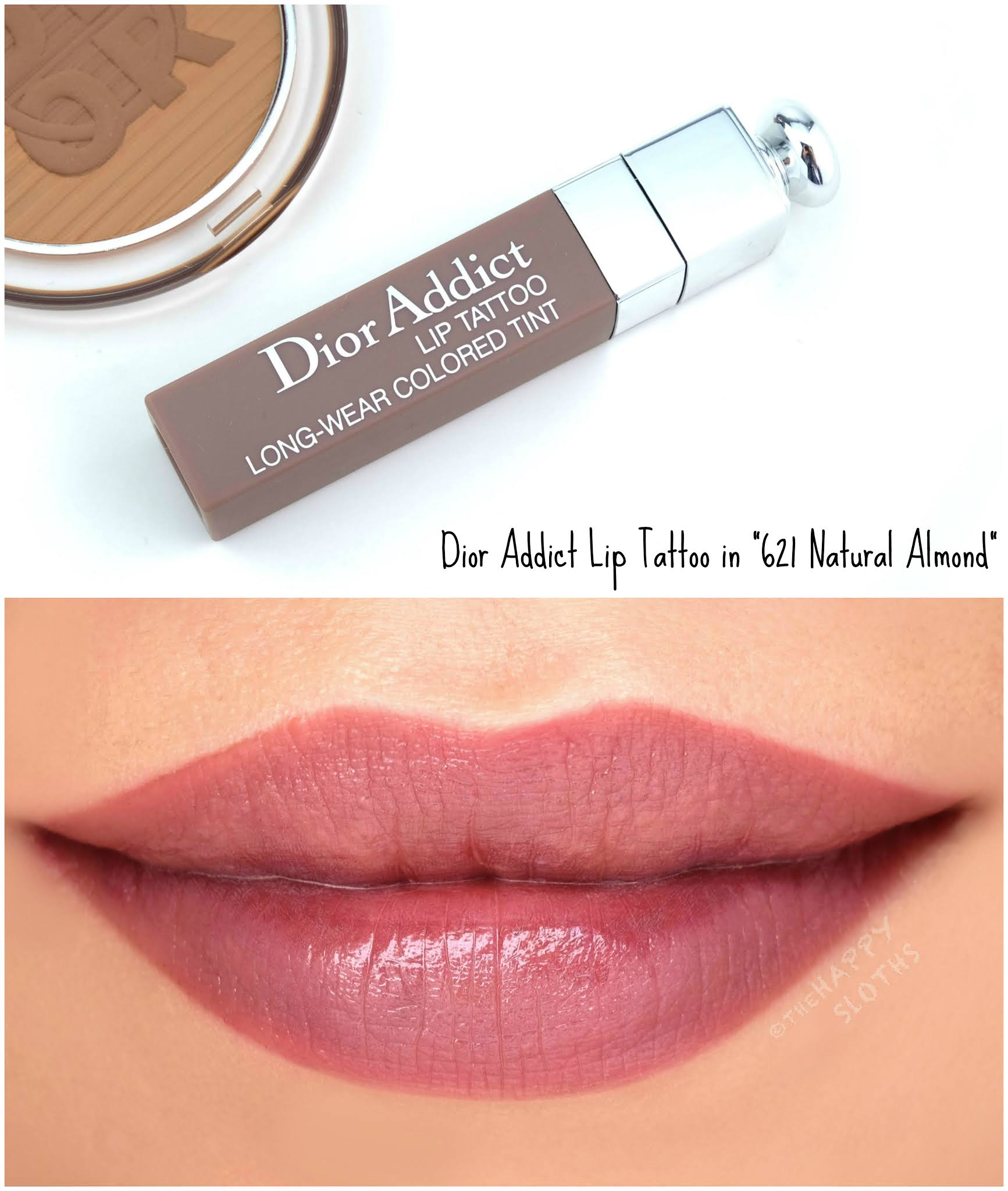 "Dior Summer 2020 | Dior Addict Lip Tattoo in ""621 Natural Almond"": Review and Swatches"