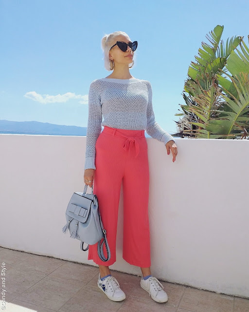 Sky Blue and Living Coral   Candy and Style