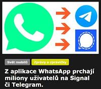 Z aplikace WhatsApp prchají miliony uživatelů na Signal či Telegram. - AzaNoviny