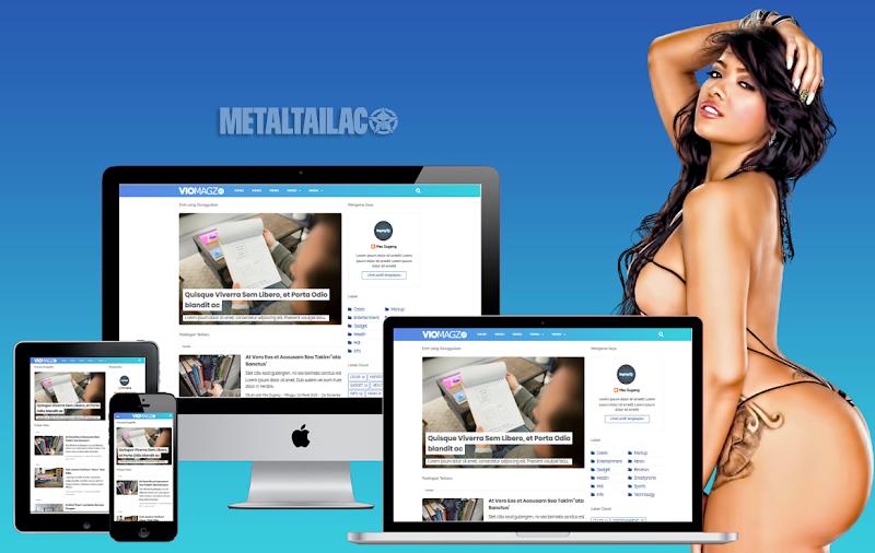 Viomagz Versi Metaltailaco .3.2  Pro Responsive - Responsive Blogger Template