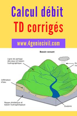 Calcul débit bassin versant TD et exercices corrigés