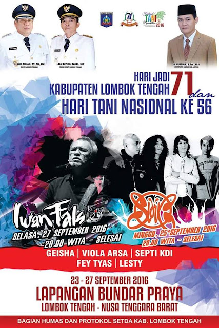 Konser Iwan Fals Lombok Tengah NTB