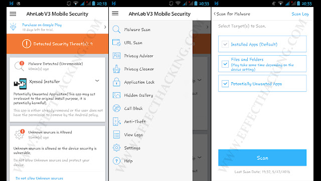 AhnLab V3 Mobile Security Screenshots