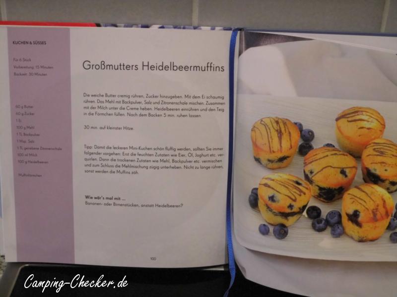 Rezept für leckere Heidelbeermuffins