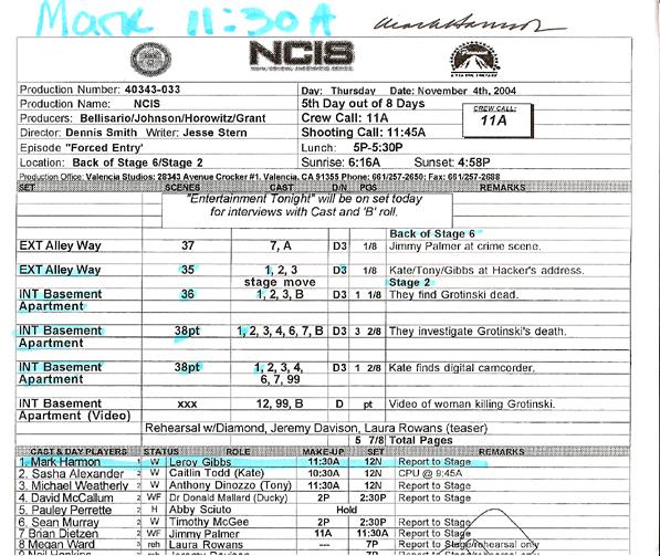 Sample Call Sheet Attendance Sheet 37 38 Free Printable - sample call sheet