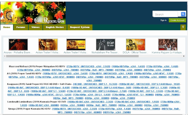 TamilRockers latest domain