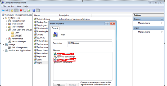 how to create mqm group in windows