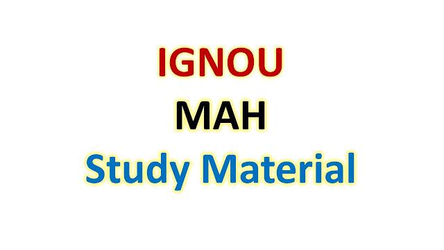 IGNOU MAH Study Material