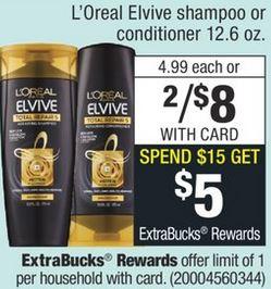 L'Oreal Elvive Shampoo CVS Deal idea: