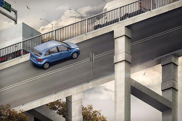 صورة الخداع البصري الجسر الأفقي