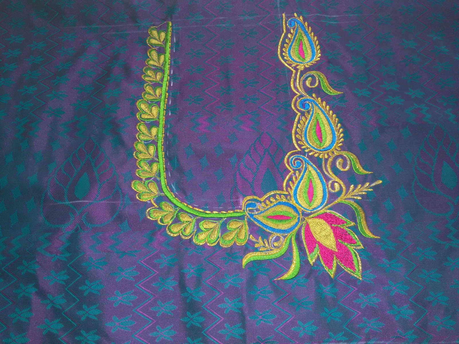 Thulasi Designers Blouse Embroidery Design