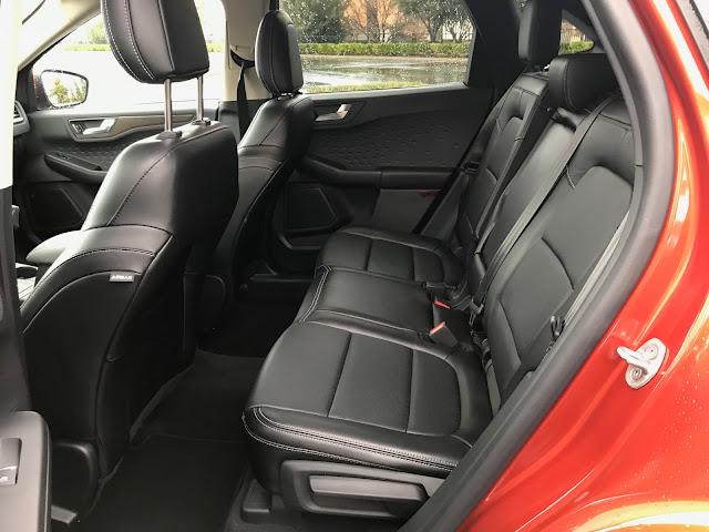 Rear seat in 2020 Ford Escape Titanium AWD